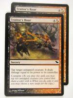 MTG Magic: the Gathering Cards: TRAITOR'S ROAR x2: SHM