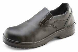 B-Click Ladies Slip On Shoes Black Size 40 UK 6.5 CF12BL 06.5