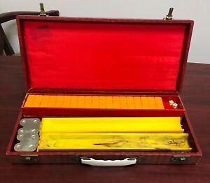 VTG Estate Royal Games Bakelite Mahjong Set w/ Case 152 Tiles 4 Boards! 21