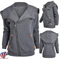 Womens USB Electric Heating Jacket Hooded Winter Warm Heated Coats Outwear 6-14