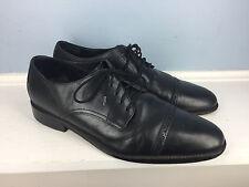 COLE HAAN Black Leather cap toe oxford men's 11 Career Formal