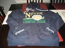 RARE MENS NOTRE DAME FIGHTING IRISH MITCHELL & NESS HOODIE NAVY BLUE SIZE XL NWT