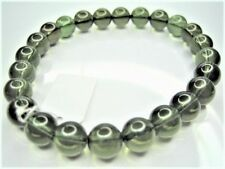 "16g 100% Genuine Moldavite Czech 8Mm 24 Beads Bracelet 7.5"" ~ Burning ~"