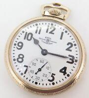 .Vintage 1950 Ball 999B Official RR Standard 16s 21 J GF Pocket Watch
