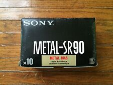 Sony :: Metal SR-90 :: metal cassette tapes :: original factory sealed box of 10
