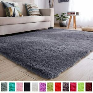 Fluffy Hairy High Pile Furry Area Rugs Shag Throw Faux Fur Rug Carpet for Living