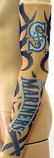 New! Seattle Mariners Blue Tattoo Arm Sleeve Sun Block Nylon Baseball Digital