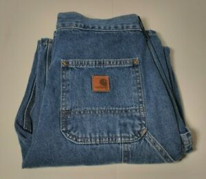 Vintage Carhartt Carpenter Jeans Mens 30 X 30 Dungaree Fit Blue Denim Work