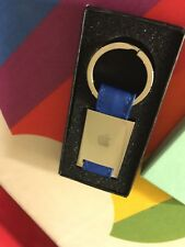 RARE OOP NEW & BOXED APPLE COMPUTER INC EMPLOYEE STORE LOGO BLUE KEY CHAIN FOB