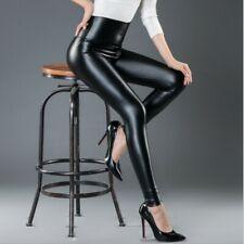 PU Leather Pants High Elastic Waist Sexy Slim Leggings