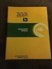 John Deere R70, R72, R92, S82, and S92 Riding Mowers Operator's Manual