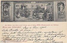Gruss aus Schorndorf AK 1902 Wandgemälde Weiber Litho Baden-Württemberg 1607006