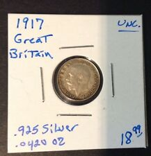 1917 3 Pence Great Britain Coin