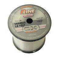 P-Line Cx Premium Clear Fluorescent Fishing Line 1000 Yards Select Lb Test