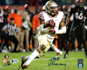 JALEN RAMSEY AUTOGRAPHED SIGNED 8X10 PHOTO FLORIDA STATE BECKETT 129345