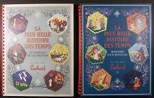 La plus belle histoire des temps 2 Albums de vignettes Suchard 1956 TBE