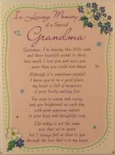 Memorial Grave Card In Loving Memory Of A Special Grandma 16.5cm x 12cm