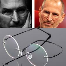 Flexible Vintage Round Eyeglasses frames Eyewear Spectacles glasses Rimless