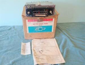 NOS 1970-1972 Chevrolet AM FM Stereo Radio Camaro Chevelle Nova Impala REAL DEAL