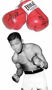 Autographed Mini Boxing Gloves Sugar Ray Robinson