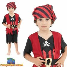 Pirate Mate Boys Age 2-3 Fancy Dress Toddlers Kid World Book Day Pirates Costume