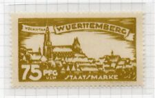 Wurttemberg 1920 March Early Issue Fine Mint Hinged 75pf. 291609