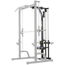 MEGATEC Lat Tower Option Plate Loaded // Power Cage Half Rack Smith Machine Gym