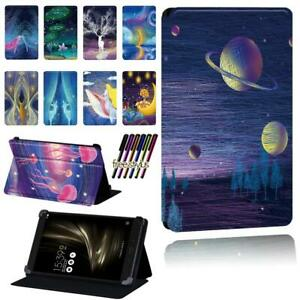 """Printed Smart Stand Case cover For Asus ZenPad 7.0"""" 8.0"""" 10"""" / S 8.0 /C 7.0 +Pen"""