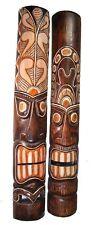 2 Wooden Masks Tiki 100cm Wall Mask Wood Mask Tiki Makse Wall Mask 2er Set