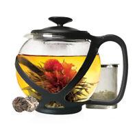 Primula  Tempo Round  Teapot  40 oz. Black/Clear