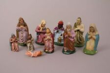 Krippenfiguren Maria Josef Könige Jesuskind bunt alt Handarbeit Weihnachten Deko