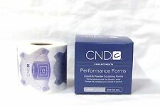 CND Creative Nail ACRYLIC SILVER Performance Forms 300 CT/ROLL