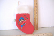 AN AMERICAN TAIL~SEARS / MCDONALDS~MINI CHRISTMAS STOCKING~FIEVEL WITH HOLLY~