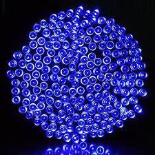 200 LED Fairy String Solar Powered Lights Xmas Garden Tree Outside Inside Blue
