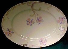 "BOHEMIA CERAMIC china ORCHID/IRIS pattern Oval Meat Serving Platter @ 12-5/8"""