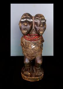 Old Tribal Bakongo 2 Headed Fetish Figure    --- Congo