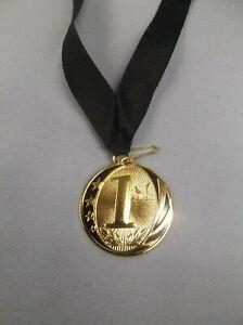 1st place black star gold medal black neck drape trophy