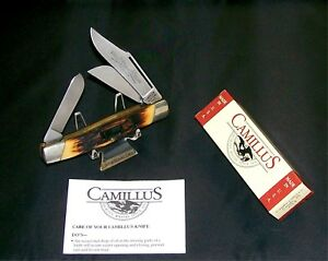 Camillus #88 Knife Side locking USA Sword Brand Stockman Indian Stag W/Packaging