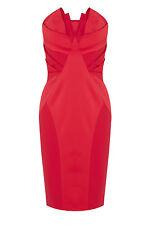 £150 NWT COAST ROXIE RED STRAPLESS BANDEAU BODY CON PENCIL WIGGLE DRESS 8 4 36