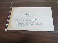 Autograph Marty Pavelich Index Card-Detroit Red Wings