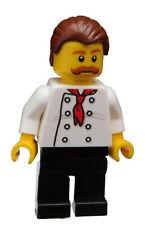 Lego Pizza Bäcker Koch Chefkoch Kochjacke Mann Minifigur (cty0711) City Neu