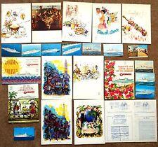 25 piece Lot OCEANIC & ITALIA Home Lines CARIBBEAN CRUISE SHIP Menus Brochures
