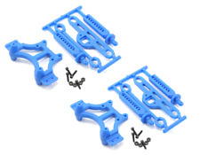 New Traxxas T-maxx / E-maxx RPM Front & Rear Shock Tower & Body Mount Set Blue