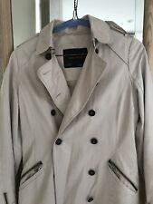 Stunning ZARA Beige Trench Coat Jacket Size S 8 Great Condition