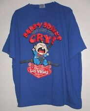 Daddy Drinks Because You Cry Baby T Shirt 2XL Welcome To Fabulous Las Vegas