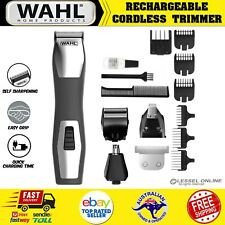 Wahl Pro Cordless Beard Trimmer Shaver Mens Electric Hair Clipper Rechargeable