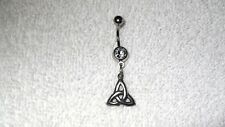 Celtic Infinity Knot Charm Belly Button Navel Ring Body Jewelry Piercing