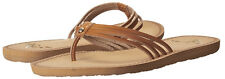 D875 - Roxy Riviera Sandals / Flip-Flops * New Womens Size 7 Tan - #25606
