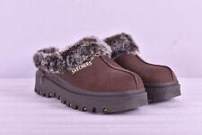 Women's Skechers Shindigs - Fortress Mule Slippers, Chocolate Brown, 8M