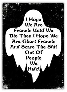 Metal Wall Sign - Ghost-Friends